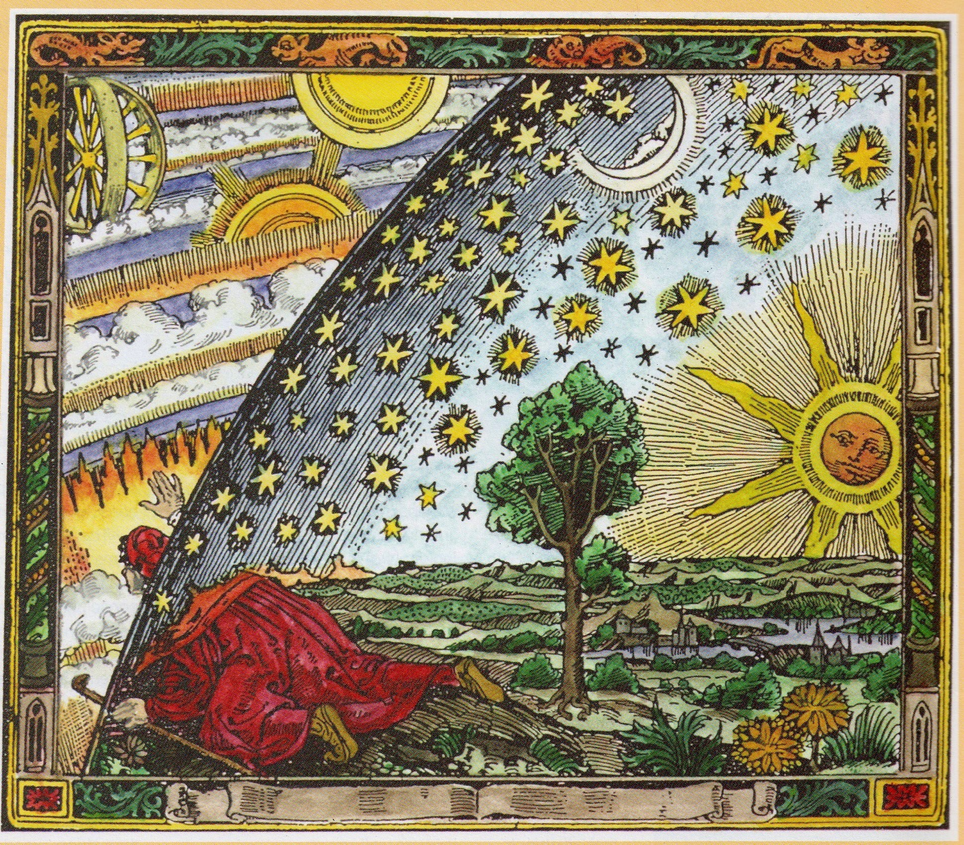 As above, so below - man is as connected to the firmament above as he is rooted to the earth.